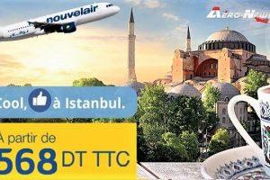 Nouvelair lance sa nouvelle liaison Tunis-Istanbul avec une promo à 568 DT (aller-retour), et ce, à partir du 3 mars