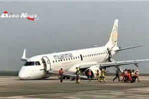 Myanmar Airlines (Birmanie) : Atterrissage d'urgence sans train avant, bilan miraculeux suite à la prouesse du pilote !  (Vidéo)