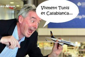 Ryanair achète Malta Air, via laquelle, elle cible les destinations de Casa, Tunis, Lyon et Genève