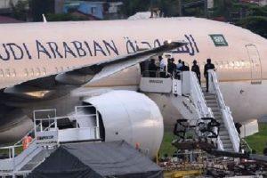 Annulation d'un vol de La Saudi Arabian Airlines et arrestation de son équipage